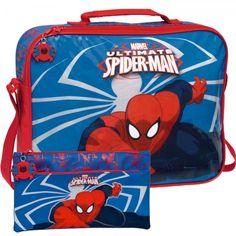 Spiderman Mochila Bolsa Bandolera + Regalo Estuche Escolar Portatodo A Juego New - Bekiro