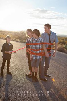 Family Photos With Teenagers: Have fun and be creative.