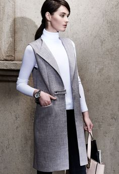 Outfits for Work - Trend Outfits for Work Fashion Long Vest Outfit, Casual Hijab Outfit, Vest Outfits, Mode Lookbook, Fashion Lookbook, Western Outfits, Winter Outfits For Work, Fall Outfits, Mode Orange
