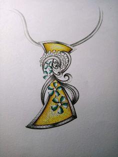 Gold Pendent, Pendant Set, Diamond Pendant, Pendant Jewelry, Jewelry Art, Diamond Jewelry, Jewelry Design, Jewelry Illustration, Jewellery Sketches