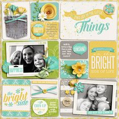 Digital Scrapbook Page Inspiration, Kristin Cronin-Barrow Gallery at the Sweet Shoppe