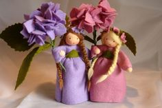 Sommer - Hortensie Blumenkind Jahreszeitentisch - ein Designerstück von Katjas-Puppenstuebchen bei DaWanda