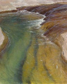 """I want to DIVE IN. """"Living Waters"""" pastel by D. LaRue Mahlke from Maynard Dixon Country."""