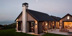Modern Farmhouse Exterior Designs Displaying Classic Comfort in Today Style - Countryside house with modern Farmhouse exterior design bringing up the traditional style in new classy look Image Architecture Durable, Farmhouse Architecture, Modern Farmhouse Exterior, Farmhouse Design, Farmhouse Style, Lego Architecture, New Zealand Architecture, Enterprise Architecture, Farmhouse Office