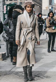 Miroslava Duma NYFW Street Style