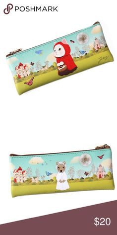 Choo Choo Ridding Pencil Case Cute pencil case by Jetoy.  Animal-friendly vegan leather Cat-shaped zipper pull for attaching charms Delivered in a pretty clear plastic box perfect for gift-giving Dimensions: 3.1 x 7.7 in. Jetoy Bags Cosmetic Bags & Cases