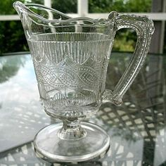 Chain and Shield Creamer 1870 Portland Glass