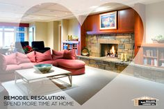 Spend more time at home with your family by creating a family room with an entertainment counsel. Visit us today to find out how we can help you accomplish all your Remodel Resolutions. #RemodelResolutions #2015Resolutions