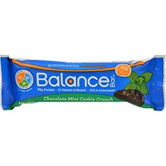 Balance Bar - Chocolate Mint Cookie Crunch - 1.76 oz - Case of 6 >>> Visit the image link for more details. #BrainNutrition