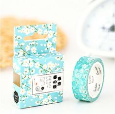 Washi Tape, Masking Tape, Planner Stickers - blue floral by WOWTHATZCOOL on Etsy https://www.etsy.com/listing/471039584/washi-tape-masking-tape-planner-stickers
