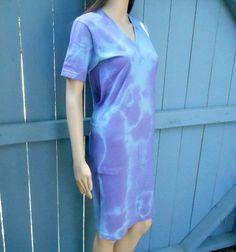 0b961fa235 Hand Dyed Organic Cotton Tie-Dye V-Neck Night Shirt by AletaOrganic Tie Dye