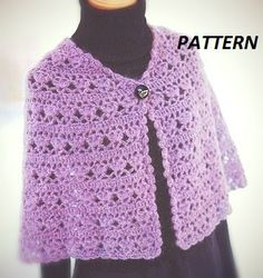 PATTERN collar crochet necklace scarf cape by CopperLife on Etsy, €2.00