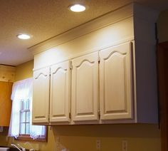 DIY Kitchen Cabinet Upgrade With Paint And Crown Molding U2014 Saved By Love  Creations