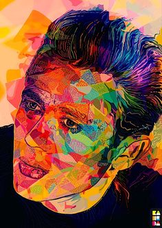 Beautiful, colourful, illustrated portraits of Hollywood legends by Alessandro Pautasso, aka Kaneda, a designer from Italy.