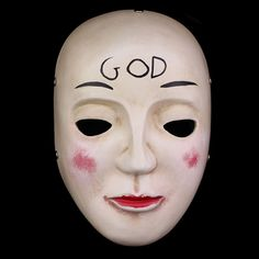 Hot The Purge Mask God Cosplay 2015 Home Decor Collection Horror Movie Masks Full Face Resin Creepy New Scary Halloween Mask(China (Mainland))