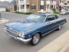 Chevrolet : Impala Impala S/S Chevy Muscle Cars, Best Muscle Cars, Ford Classic Cars, Classic Trucks, 1962 Chevy Impala, 64 Impala, Old American Cars, Cars Usa, Old School Cars