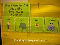 Sequencing cards and activities for the Old Lady Who Swallowed a Clover
