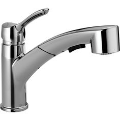 Delta Collins Chrome 1-Handle Pull-Out Kitchen Faucet