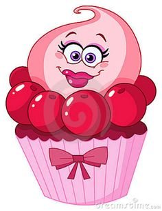 Dessert with cartoon faces on it | Cute Cupcake Stock Images - Image: 21158264