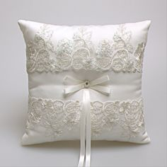 Ring Pillow Western Style NEW Elegant Rose With Lace Wedding Favors Gift Ring Box Pillow Cushion Wedding decor free shipping #Affiliate
