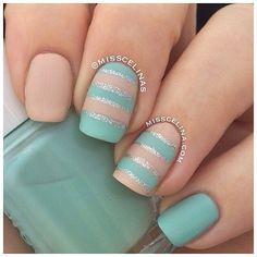 Patel matte nail polish art design