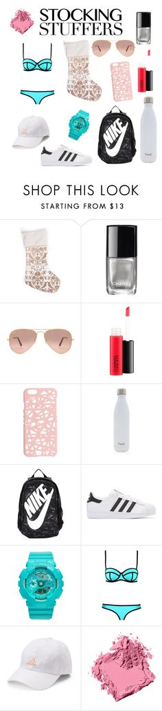 """""""What I Want For Christmas"""" by georgievskirebeca ❤ liked on Polyvore featuring Chanel, Ray-Ban, MAC Cosmetics, Miss Selfridge, S'well, NIKE, adidas Originals, Baby-G, adidas and Bobbi Brown Cosmetics"""