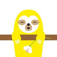 Rentoa juhannusta!  Happy Midsummer! . . . . . #raefactory #laiskiainen #sloth #slothlove #kuvitus #illustration #drawing #iloinen #happy #juhannus #midsummer #midsommar #finnishdesign #fromfinland #lahti #nordicstyle #kesä #summer #mood #juhannustaika #kukka #flower #luonto #nature #animalart #lempiväri #fun