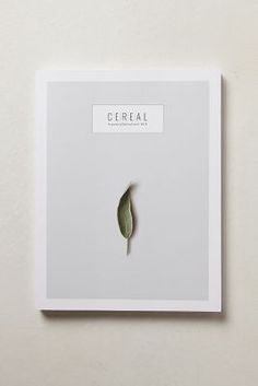 Yes, I know, not an actual book cover. From: cereal magazine