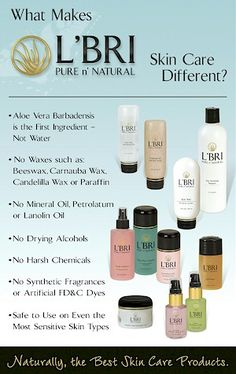 What Makes L'BRI Skincare Care Different? I challenge you to compare the ingredients in your skin care to L'BRI PURE n' NATURAL ingredients. Visit my website for a FREE 10 day sample! www.kathystubbs.lbri.com