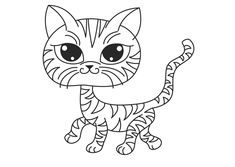 Free Cat Coloring Pages Procoloring