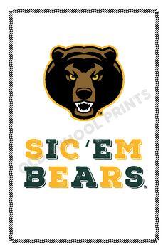 Baylor Sic 'Em Bears Print