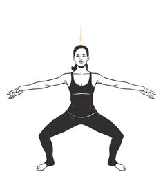 Horse Pose | Memorize these five moves and you'll have a metabolism-boosting routine you can do anywhere.