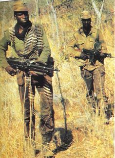 Rhodesia Army - 1978 - IIRC these are Selous Scouts from the Rhodesian Army, on their way to Zambia for Operation Vodka