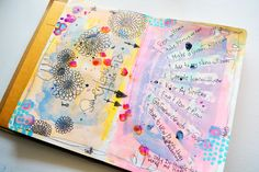 I am already enjoying the lessons in Art Journaling Summer School . Creating a summer bucket list was a fun way to get acquainted with the limited supply list and document my plans for a fun filled season! Art Journal Pages, Art Journals, Dandelion Clock, Create Collage, Junk Art, Summer Bucket Lists, Art Journal Inspiration, Life Drawing, Mixed Media Art