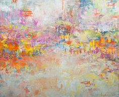 Original painting, abstract painting, pink painting, To See Your Face, Oil and Texture on Canvas, 60 x 72 in.