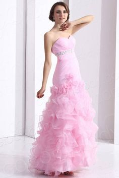 Princess Sweetheart Pink Evening Dress