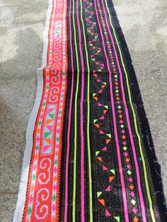 Handwoven Hmong, Vintage fabric, Cross stitch  textiles and cotton fabrics- Table runner, on Etsy, $44.99