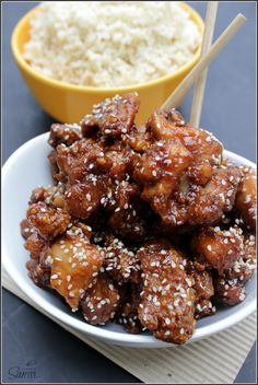 """""""Take-Out"""" Sesame Ginger Chicken - A Dash of Sanity"""