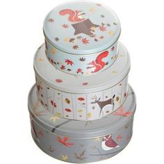 Magpie Forest Friends Set Of Three Cake Tins
