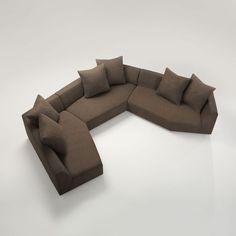 Modular sofa / contemporary / fabric / multiplace MITOSI  VIOSKI