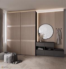 Wardrobe Door Designs, Wardrobe Design Bedroom, Modern Bedroom Design, Home Room Design, Luxury Interior Design, Wardrobe Interior Design, House Design, Flur Design, Home Entrance Decor