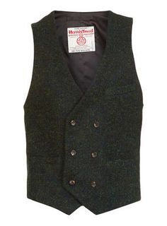 Harris Tweed Green Waistcoat