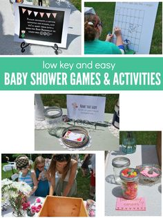 6 low key, easy, and budget-friendly baby shower games and activities - via the sweetest digs