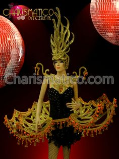 Charismatico Dancewear Store - CHARISMATICO Diva's Golden Headdress, collar, and hip pack with orange accents , $390.00 (http://www.charismatico-dancewear.com/charismatico-divas-golden-headdress-collar-and-hip-pack-with-orange-accents/)