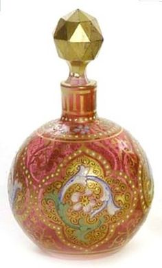 Perfume Bottle. Moser Glass, : Czechoslovakia.1893