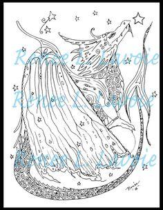 Digi stamp steampunk dragon design with by TheArtOfReneeLLavoie