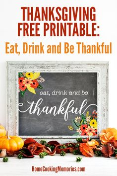 Free Thanksgiving Printable: Eat Drink and Be Thankful Thanksgiving Bingo, Free Thanksgiving Printables, Christmas Printables, Party Printables, Free Printables, Thanksgiving Pictures, Autumn Themed Recipes, Fall Recipes, Superhero Theme Party