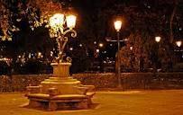 street lamps night in Madrid