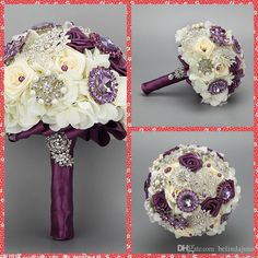 Only with flower wedding,flowers wedding and fresh flower, can you hold a good ceremony or party. Wholesale  luxurious bridal bouquet 2015 beautiful flowers beaded crystal for wedding bridesmaid bouquet artificial bouquets european fashion in belindajune on DHgate.com will let you down.