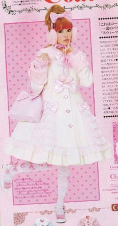 Style / Hime Lolita - The perfect look! White and pink ! It must be the ultimate sweet femininity ! Harajuku Fashion, Japan Fashion, Kawaii Fashion, Lolita Fashion, Cute Fashion, Girly Outfits, Pretty Outfits, Cute Outfits, Estilo Lolita